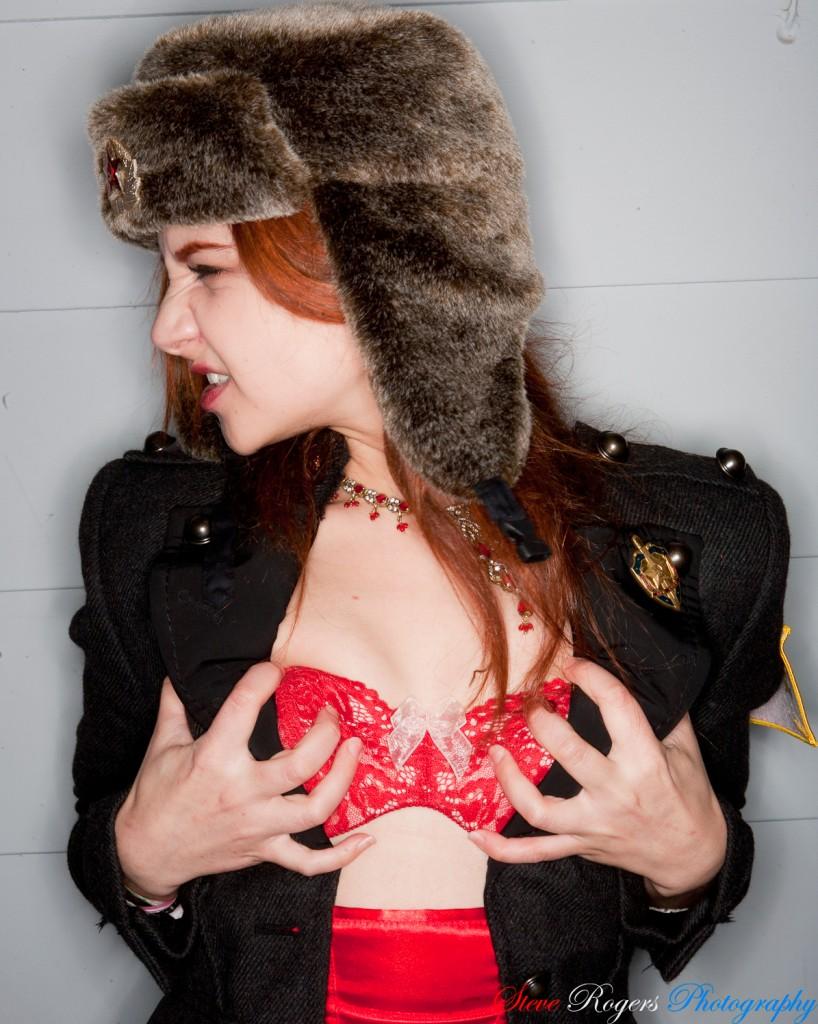 Jen Blair, Jennifer Blair, Anna Chapman, Steve Rovers Photography, Lingerie, Commie, Fur, Fur Hat
