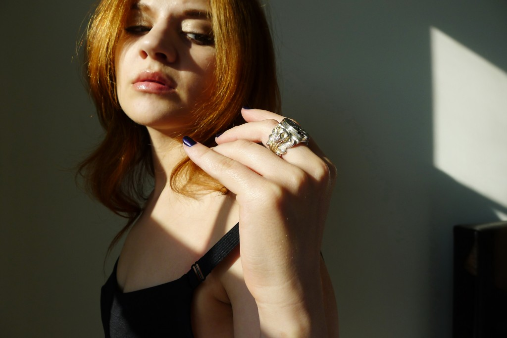 Skull, Jewelry, Ring, Accessories, Clock, Clockwork, The Evolution Store, SoHo, Topshop, Little Black Dress, Jennifer Blair