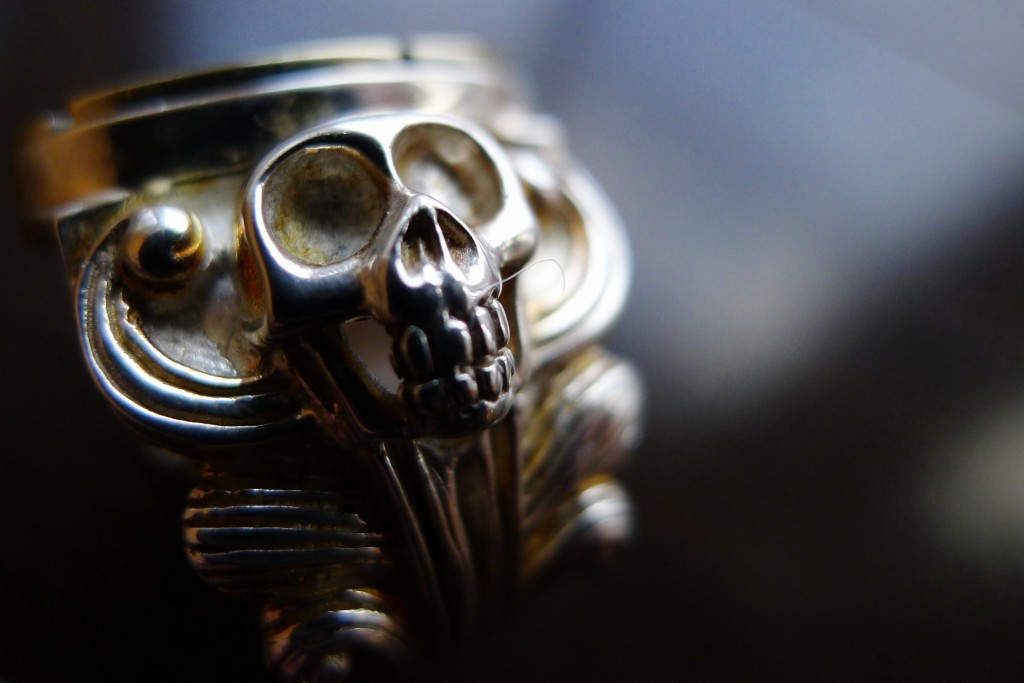 Skull, Jewelry, Ring, Accessories, Clock, Clockwork, The Evolution Store, SoHo