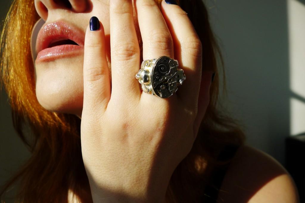 Skull, Jewelry, Ring, Accessories, Clock, Clockwork, The Evolution Store, SoHo, Gel Manicure, Valley Nails NYC, Jennifer Blair