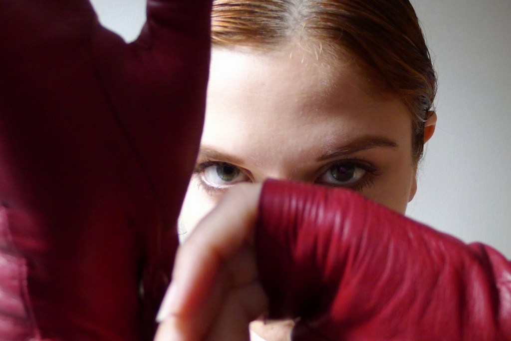 Red Leather, Gloves, Glovettes, Fingerless Gloves, Imoni, Intermix, Jen Blair, Jennifer Blair, Change Machine