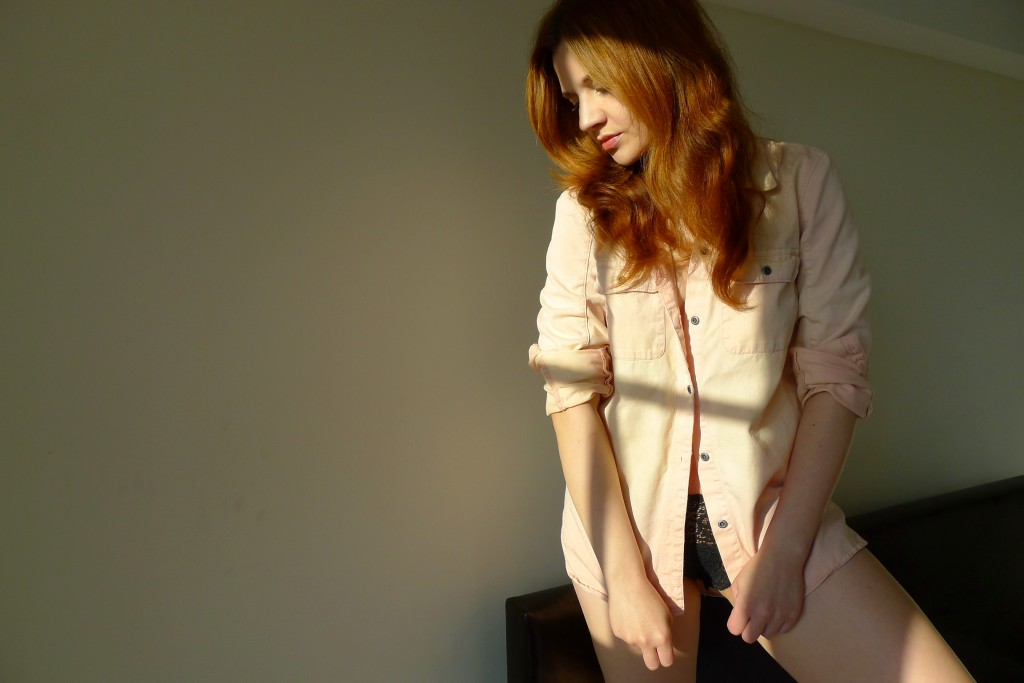 Pink, Shirt, Buttons, Sunset, Madewell, Ombre, Transitional, Summer, New York, Jen Blair, Jennifer Blair, Change Machine